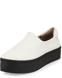 Opening Ceremony Fabric Platform Slip On Sneaker White