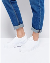 adidas Originals White Superstar Slip On Sneakers