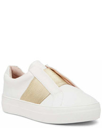 Topshop Slip On Metallic Strip Sneaker