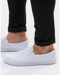 Slip on sneakers in white medium 966666