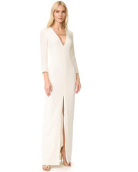 White Slit Evening Dress