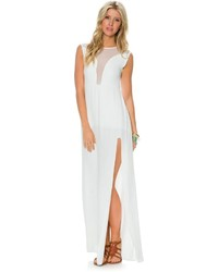 White Slit Maxi Dress
