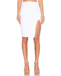 Donna Mizani Side Slit Midi Skirt