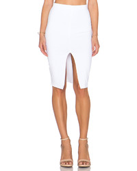 Donna Mizani Front Slit Midi Skirt
