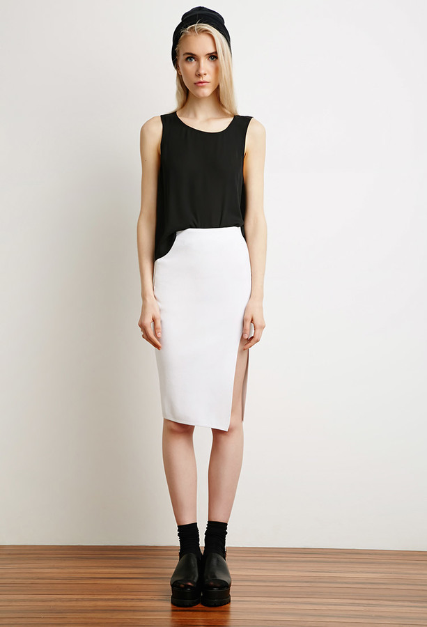 Forever 21 Front Slit Pencil Skirt | Where to buy & how to wear