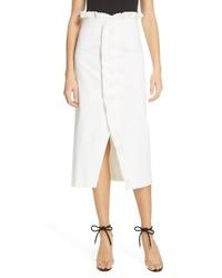 AMU R Paulina Ruffle Stretch Organic Cotton Skirt