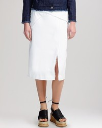 Whistles Skirt Frayed Denim