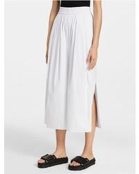 Platinum stretch poplin slit wide pants medium 4270814