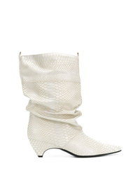 Stella McCartney Snake Effect Pointed Boots