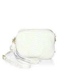 GiGi New York Madison Python Embossed Leather Crossbody Bag