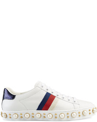 Gucci Ace Studded Low Top Sneakers