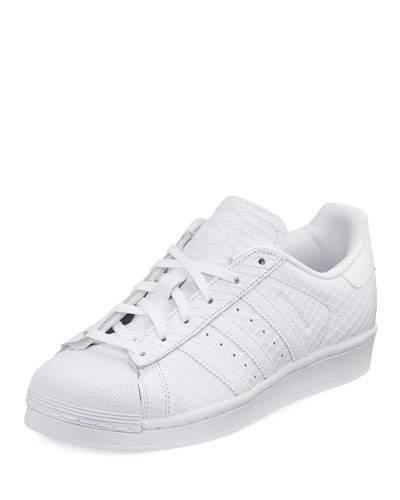 buy online 5f017 36f4c $85, adidas Superstar Snake Embossed Sneaker White