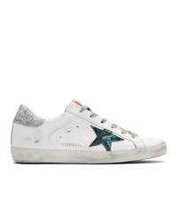 Golden Goose White Snake Sneakers