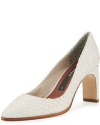 Royale snake embossed pointed toe pump white medium 693131