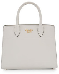 City calf watersnake bibliothque small tote bag white medium 791607