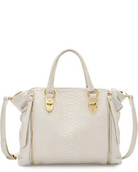 Oreet snake embossed leather tote bag white medium 636304