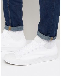 Converse All Star Ox Sneakers In White 1u647