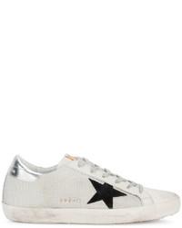 Golden Goose Deluxe Brand White Black Superstar Mesh Sneakers