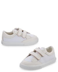 Burberry Heacham Solid Canvas Sneaker White Infant