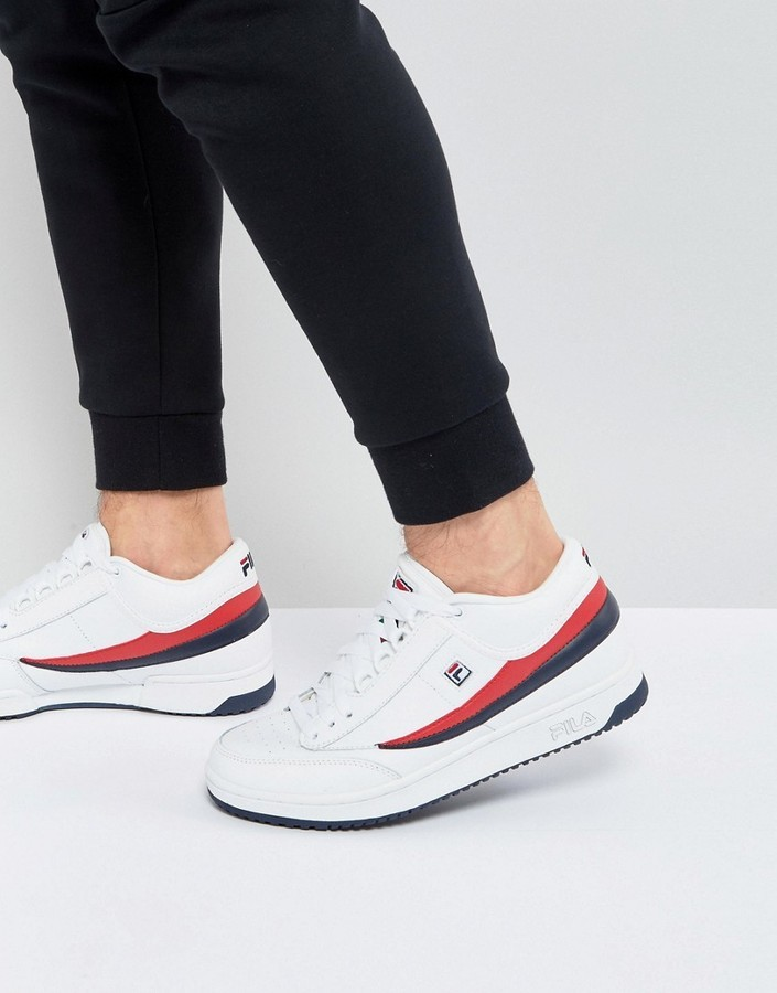 $127, Fila Heritage T1 Mid Sneakers