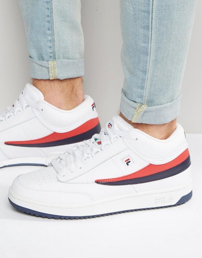 $135, Fila T 1 Mid Sneakers