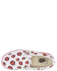 Vans Toddler Girls Classic Strawberries Slip On Sneaker