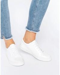 Glamorous White Patent Sneakers
