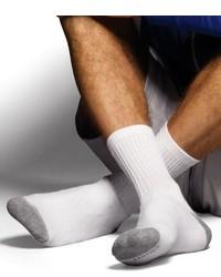 Hanes 6 Pack Ultimate Freshiq Crew Socks White Sock Size 10 13