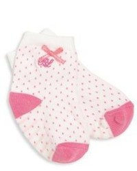 Ralph Lauren Infants Pindot Bow Socks