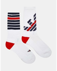 Emporio Armani Logo Crew Socks In 2 Pack