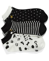 Kate Spade New York Assorted 3 Pack Anklet Socks