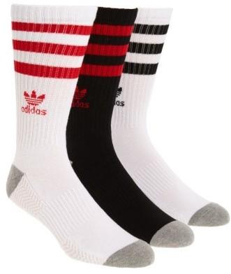 ... adidas Originals 3 Pack Original Roller Crew Socks ... c4bef5e026d