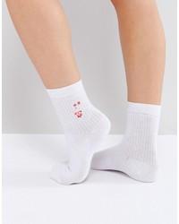 Asos Rocket Embroidered Ankle Socks