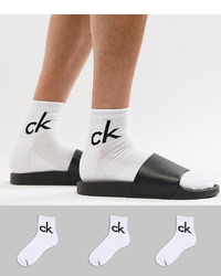 Calvin Klein Socks In Quarter Length 3 Pack White