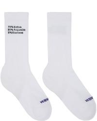 Vetements White Composition Socks
