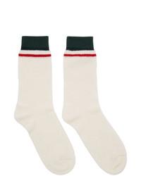Gucci White Gg Socks