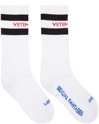 Vetements White Sexual Fantasies Socks
