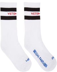 Vetements White Sexual Fantasies Socks