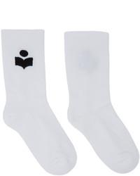 Isabel Marant White Visby Socks