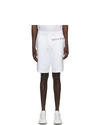 Moschino White Fantasy Print Uomo Shorts