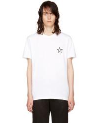 White Star Print Crew-neck T-shirt
