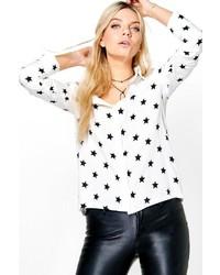 Boohoo Erin Star Print Western Shirt