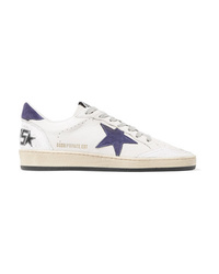 Golden Goose Deluxe Brand B Distressed Leather And Suede Sneakers