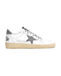 Golden Goose Deluxe Brand B Swarovski Crystal Embellished Leather Sneakers