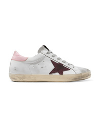Golden Goose Deluxe Brand Distressed Leather And Suede Sneakers