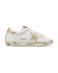 Golden Goose Deluxe Brand Distressed Leather Sneakers