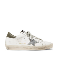 Golden Goose Deluxe Brand Distressed Med Leather Sneakers