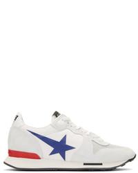Golden goose white blue star running sneakers medium 3699121
