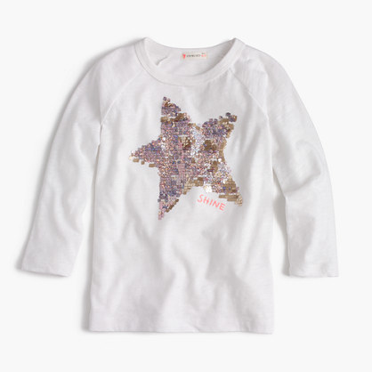 J.Crew Girls Sequin Star T Shirt