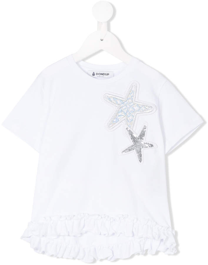 Dondup Kids Embroidered Star Patches T Shirt